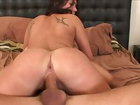 Busty wild whore is happy to ride strong boner cock for orgasm