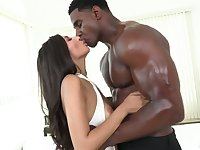 Captivating white babe Gianna Dior gives her head and gets her pussy nailed