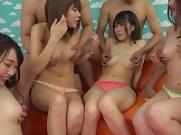 Nude Japanese sluts in group scenes of pure sex