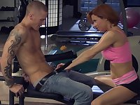 Veronica Avluv enjoys the best fuck at the gym with her horny trainer