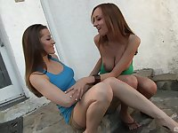 Dani Daniels and Victoria Rae Black please their pussies with sex toys