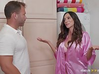 Ariella Ferrera loves when her lover cum on her tits after good sex