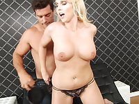 Cougar with big tits Christie Stevens ass fucked by a fat dick