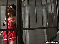 Arrested Asian chick Rio Haruna is fucked by several dudes in prison