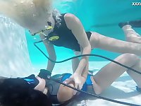 Wild underwater scuba diving fun with a voracious lesbian Vodichkina