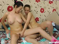 Russian teen Sonja N invited her best friend for lesbian sex