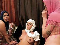 Sex slave orgy Hot arab ladies attempt foursome