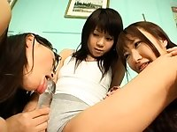 Cute Asian Teen In Threesome With Two Ugly Asian Guys