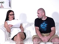 Czech milf Wendy Moon is fucked by two amateur guys and his girlfriend